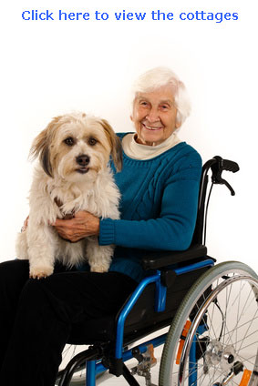pet friendly self catering cottages with wheelchair access for disabled where dogs are accepted