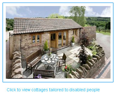 self catering cottages with amenities for disabled and mobility impaired people