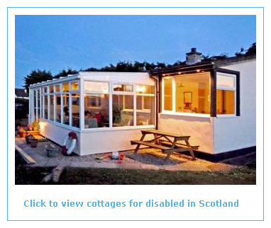 wheelchair accessible cottages for the disabled in scotland