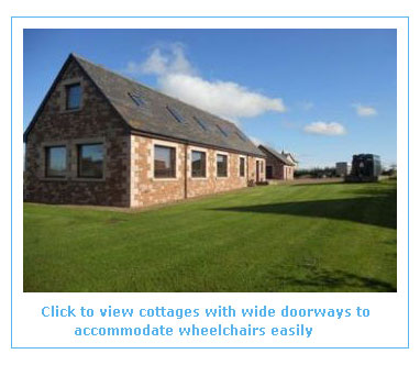 cottages with wheelchair wide doorways for easy access in holiday accommodation