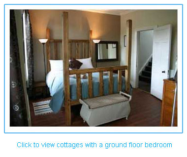 holiday cottages with a ground floor or downstairs bedroom
