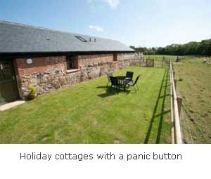 self-catering cottages with an emergency button to call for help